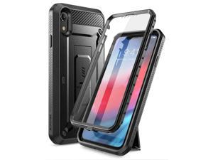 iPhone XR Case, SUPCASE Full-Body Rugged Holster Case with Built-in Screen Protector for Apple iPhone XR (2018 Release), Unicorn Beetle Pro Series -Retail Package (Black)