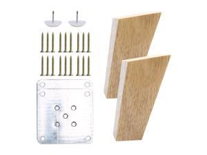 4 Inch Wood Furniture Legs Tapered Sofa Legs Replacement Feet for Cabinet Dresser Furniture Legs Restoration Set of 2