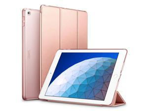 "ESR Case for iPad Air 3 Case, Auto Sleep/Wake Lightweight Stand Case, Hard Back Cover Yippee Trifold Smart Case Specially Designed for iPad Air 3 10.5"" 2019, Rose Gold"