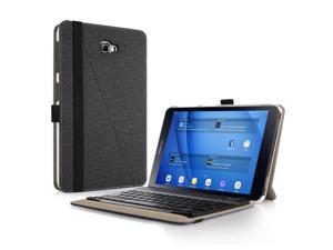 Infiland Samsung Galaxy Tab A 10.1 Keyboard Case, Premium Shell Stand Case Cover with Detachable