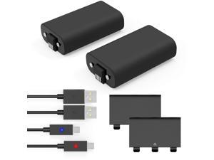 Xbox Controller Battery Pack, Y Team Xbox Play and Charge Kit with 2 Pack 1200mAh, Xbox Battery Pack with LED, Xbox One Charge and Play for Xbox One X/S