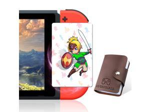 [NEWEST VERSION] 24 pcs NFC Cards with Holer for the Legend of Zelda Breath of the Wild Botw Switch/Switch Lite/Wii U with New Card for Link's Awakening