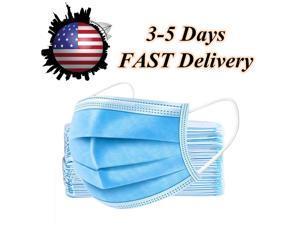 200 Pcs 3 Layer Disposable Face Masks Tie-on Earloop/Elastic Earloop, Random Shipping
