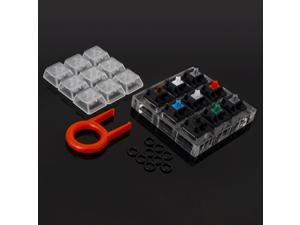 Cherry MX Switch Tester Mechanical Keyboards 9-Key Switch Testing Tool, with Keycap Puller and O Rings