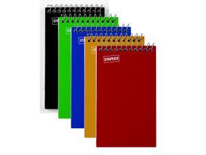 """Spiral Memo Books, Top-Opening, College Ruled, 3"""" x 5"""", 75 Sheets/Pad, 5 Pads/Pk"""