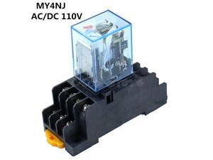 Enthusiastic Hh52p My2nj 8 Pin Screw Terminals Power Relay Socket Base Holder High Quality Relays Electrical Equipments & Supplies