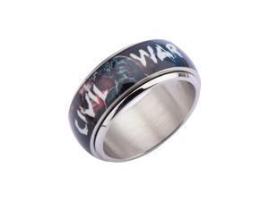 Marvel Captain America Civil War Comic Stainless Steel Spinner Ring  -  Size  *12*