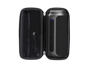 Hermitshell Hard EVA Travel Black Case Fits Bluetooth Speakers, Tronsmart T6 25 Watt Dual-Driver 15 Hours Playtime 360 Degree Surround Sound Portable Wireless Speaker