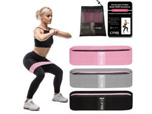 Booty 3 Resistance Bands for Legs and Butt Set, Exercise Bands Fitness Bands, Resistance Loops Hip Thigh Glute Bands Non Slip Fabric, Elastic Strength Squat Band, Workout Beginner to Professional