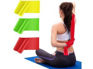 HiBay Resistance Bands Elastic Exercise Bands 3 Pack Physical Therapy Tension Band Recovery Band Workout Strength Training Bands for Women, Yoga, Arms,Upper Body and Shoulders (Red Yellow Green)