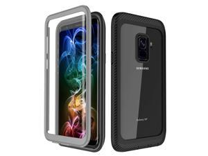 Samsung Galaxy S9 Case, Built-in Screen Protector Full Body Clear Cover Case Shockproof Heavy Duty Protective Case for Samsung Galaxy S9