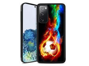Samsung Galaxy S20 FE 5G Clear Case - Case for Samsung Galaxy S20 FE 5G with Design Clear Samsung S20 FE Cover Case Compatible with Samsung Galaxy S20 FE 5G (Fire Soccer)