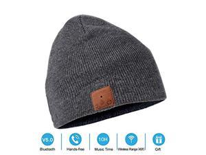 d0285b1100f NERAON Newest Bluetooth 5.0 Wireless Bluetooth Beanie with Detachable HD  Stereo Speakers   Mic