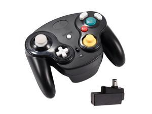 2.4G Wireless Gamecube Controller Gamepad Gaming Joystick with Receiver for Nintendo Gamecube,Compatible with Wii (Black)