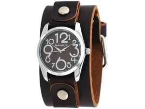 d36e1d76285e Nemesis DBGB109B Womens Exclusive Collection Crazy Numbers Leather Band  Watch