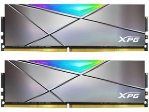 XPG SPECTRIX D50 Xtreme RGB Desktop Memory 16GB (2x8GB) 4800MHz DDR4 CL19 Gun Metal