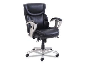 SertaPedic Emerson Task Chair  Supports up to 300 lbs.  Black Seat/Black Back
