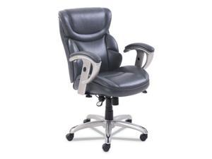 Emerson Task Chair, 21 1/4w x 19 3/4d x 21 3/4h Seat, Gray Leather