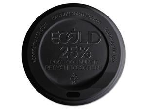 Eco-Products EcoLid 25% Recy Content Hot Cup Lid Black F/10-20oz 100/PK 10 PK/CT
