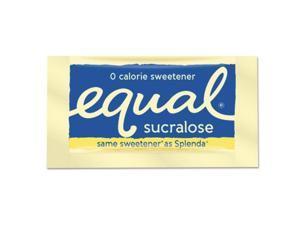 Zero Calorie Sweetener, 0.035 oz Packet, 100/Box, 12 Box/Carton EQL90077