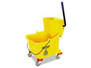 Side-Press Bucket/Wringer Combo, 8.75 gal, Yellow