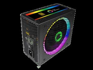 GMX RGB-550 Rainbow, ATX Power Supply 550W Fully Modular 80+ Gold Certified with Addressable RGB Light, ATX 12V 2.31,14CM RGB Fan with Control