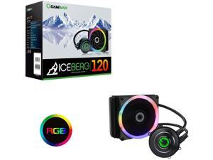 GMX Iceberg 120mm Intel/AMD All in One CPU Water Cooler with 7 Colour PWM Fan