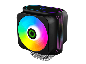 GMX Gamma 600 CPU Cooler Smart RGB Functions, Dual 120mm High Airfllow Optimized Fans, 6X High Performance Copper Heatpipes, Axe Addressable RGB CPU Air Cooler 230W
