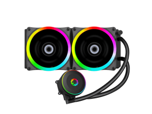 Iceberg 240 RAINBOW CPU Water Cooler, RGB 240mm Liquid CPU Cooler, Anti-Leak Technology Inside, Cable Controller and 5V ADD RGB 3-Pin Motherboard Control, Liquid CPU Cooler