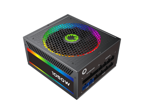 Computer Power Supplies 1050W, RGB Power Supply Fully Modular 80+ Gold PSU, Addressable RGB Light Power Supply for Gaming PC