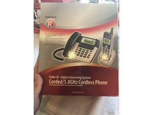 Radio Shack Corded 5.8ghz Cordless Caller Id Digital Answering System 43-166