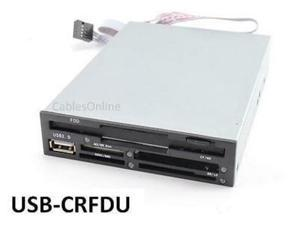 "3.5"" Internal Multifunction Floppy Disk Drive And Memory Card Reader, Usb-crfdu"