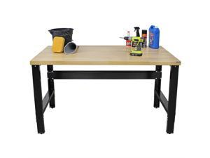 Borroughs Adjustable Height Work Bench with Solid Hardwood Top, 30 x 60 in