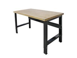 Borroughs Adjustable Height Work Bench with Solid Hardwood Top, 30 x 72 in