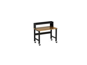Borroughs Adjustable Height Hardwood Top Workbench with Ledge Shelf, 30 in x 48 in