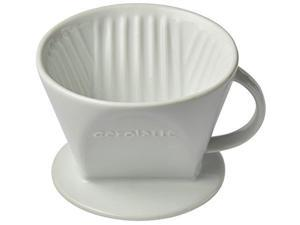 aerolatte 029 pour over coffee dripper reusable filter cone brewer, number 2size, ceramic, brews 2 to 6cups