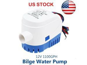 12V 1100GPH Automc Bilge Pump Marine Boat RV Auto Submersible Water Pump US
