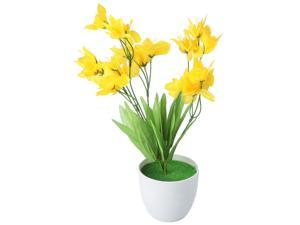 Home Plastic DIY Craft Decorative Artificial Simulation Narcissus Flower Yellow