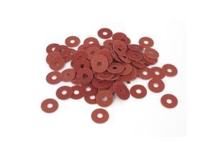 3mmx10mmx0.5mm Fiber Motherboard Insulating Pad Fastening Washers Red 100pcs