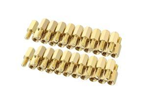 Unique Bargains 40pcs M3 8+6mm Female Male Thread Brass Hex Standoff Spacer Screws PCB Pillar
