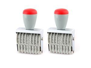 Office Warehouse Rubber 8 Band Punctuation Number Printer Numbering Stamps 2pcs