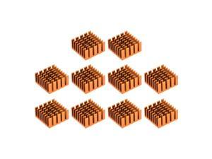 Cross Shaped Notch Heatsink for MOS GPU IC Chip Golden 20 x 20 x 10 mm 10pcs