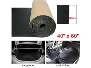394mil 10mm 16.36sqft Car Hood Tailgate Heat Insulation Foam Sound Deadener Mat Replacement 60x40 Inches