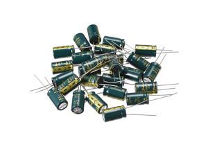 Aluminum Radial Electrolytic Capacitor Low ESR Green 680UF 35V 10 x 17 mm 25pcs