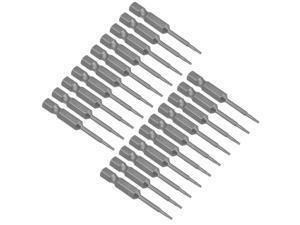 "20pcs 50mm Long 1/4"" Hex Shank T5 Magnetic Torx Head Screwdriver Bits S2 High Alloy Steel"