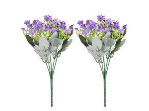 Party Fabric Buds Craft Emulational Artificial Flower Bouquet Decor Purple 2pcs