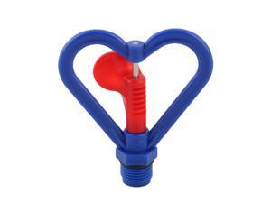Home Plastic Heart Shaped Plants Irrigation Water Sprayer Sprinkler Head Blue