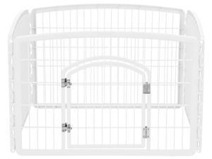 IRIS 24-inch Exercise 4-Panel Pet Playpen with Door, White