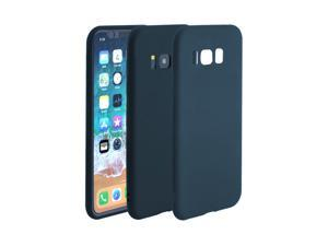 Plastic Phone Case for Galaxy S8 Shield Cover Cellphone Protector Case Matte Shell Soft Thin Anti-Scratch Shock Resistant Teal Blue