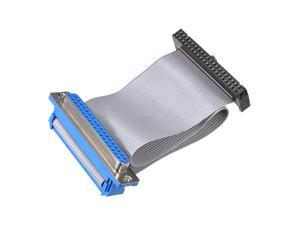 IDC Wire Flat Ribbon Cable DB37 Female to FC-40 Female Connector 2.54mm Pitch 20cm Length